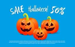 Pumpa och halloween Banerförsäljning för ferie Arkivfoto
