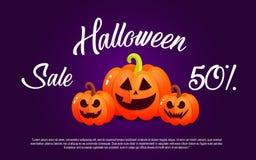 Pumpa och halloween Banerförsäljning för ferie Royaltyfri Bild