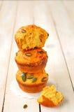Pumpa- och ostmuffiner Royaltyfri Foto