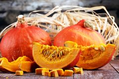 Pumpa och pumpaskivor Autumn Healthy Food Nutrition Seasona arkivbild