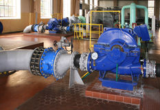 pumpa stationsvatten Royaltyfria Bilder