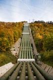 pumpad lagring för hydropower växt Arkivfoton