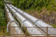 Pumpad lagringskraftverk royaltyfria foton