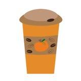 Pumpakryddakaffe Arkivfoton