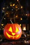 Pumpalampa för halloween Royaltyfri Fotografi