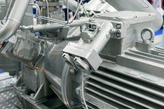 Pumpanlage des starken Gases Sternpumpe angetrieben durch einen Elektromotor lizenzfreie stockbilder