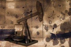 Pumpar för oljeproduktion Royaltyfri Fotografi