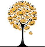 pumpatree för 3 halloween Arkivfoton