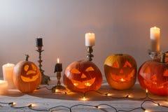 pumpawhite för bakgrund eps8 halloween Royaltyfri Bild