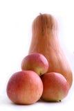 Pumpckin och äpple Royaltyfri Fotografi