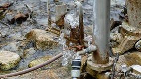 Pumpe des hydraulischen Stoßhebers stock video footage
