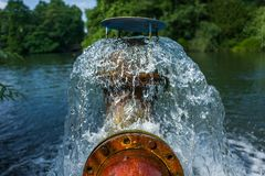 Pumpe im Park in Duesseldorf, Deutschland Stockfotos