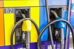 Pumpen-Benzin-Maschine stockfoto