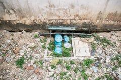 Pumpen för vatten för system för vatten för sugrör Arkivbilder