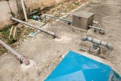 Pumpen för vatten för system för vatten för sugrör efter det bostads- bet Royaltyfria Bilder