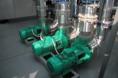 Pumpen im Kesselhaus Lizenzfreie Stockfotos