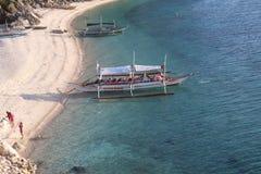 Pumpenboote in den Philippinen stockbild