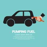 Pumpender Brennstoff lizenzfreie abbildung