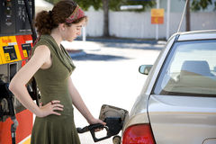 Pumpendes Gas Stockbild