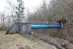 Pumpendes Wasser des Systems für die Landwirtschaft an Biei-cho Lizenzfreies Stockfoto