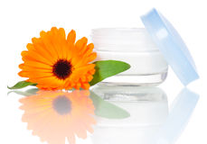 Pumpenflasche für Gesichtssahne Stockbilder