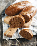 Pumpernickel buns Royalty Free Stock Images