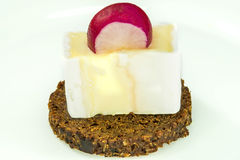 Pumpernickel with camembert Royalty Free Stock Photo
