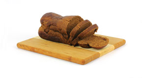 Pumpernickel Slices at an Angle Royalty Free Stock Photography