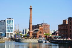 The Pumphouse, Liverpool. View of the Victorian Pumphouse at Albert Dock, Liverpool, Merseyside, England, UK, Western Europe Royalty Free Stock Image