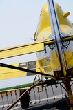 Pumping Chemicals in CropPlane. Pumping Chemicals in Crop Duster Just Before Take-Off Stock Image
