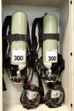Pumping fire at the facility, the oil base. Industrial fire exti. Nguishing system Stock Image