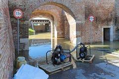 Pumping flood water Royalty Free Stock Photos