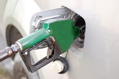 Pumping Fuel Stock Photo