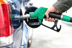 Pumping fuel in to the tank Royalty Free Stock Photos