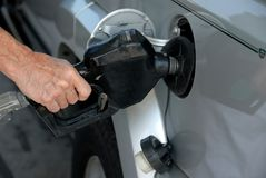 Pumping gas Royalty Free Stock Photos