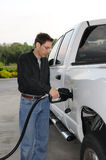 Pumping Gas royalty free stock photo