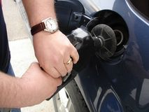 Pumping Gas Stock Photography