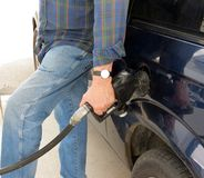 Pumping Gas Royalty Free Stock Images