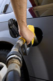Pumping Gas or Petrol Royalty Free Stock Images
