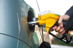 Pumping gasoline Royalty Free Stock Photos