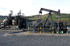 Pumping Oil. Oil Extraction Plant Stock Image