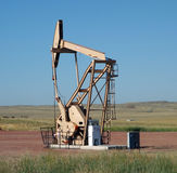 Pumping oil in south dakota Royalty Free Stock Photos