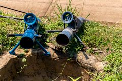 Pumping pipe for agriculture and rice farming royalty free stock image
