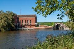 Pumping station Greetsiel, Germany Royalty Free Stock Photo