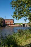 Pumping station Greetsiel, Germany Stock Images