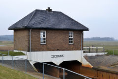Pumping station Oude Schans on Texel. Royalty Free Stock Images