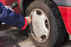 Pumping Tyre Royalty Free Stock Images