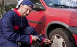 Pumping Tyre Stock Photos