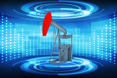 Pumping unit on blue Royalty Free Stock Images