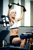 Pumping up muscles Royalty Free Stock Photography